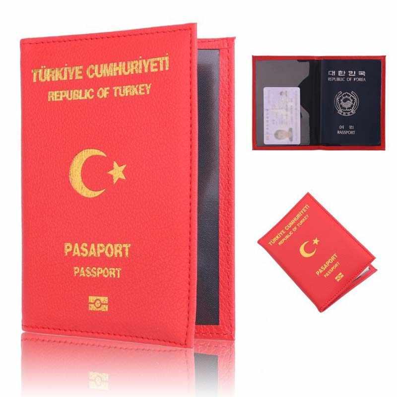 PU レザートルコパスポートカバー女性のかわいいパスポートホルダー旅行財布カードパスポートホルダードキュメントオーガナイザーバッグ