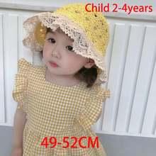 Детская летняя пляжная шляпа для девочек защита от солнца стиль