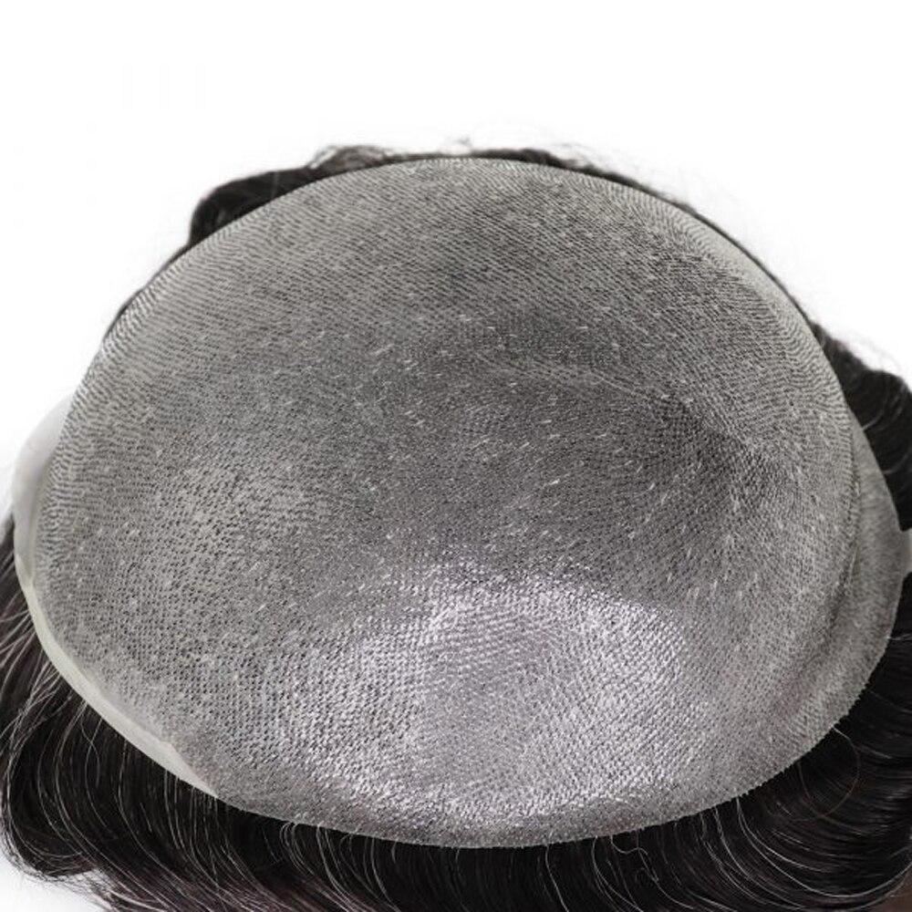 Купить bymc парик мужской черный 6 дюймов смешанные 40% белые человеческие