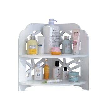 Esquinero tocador de baño encimera lavabo estante simple europeo moderno estante de almacenamiento