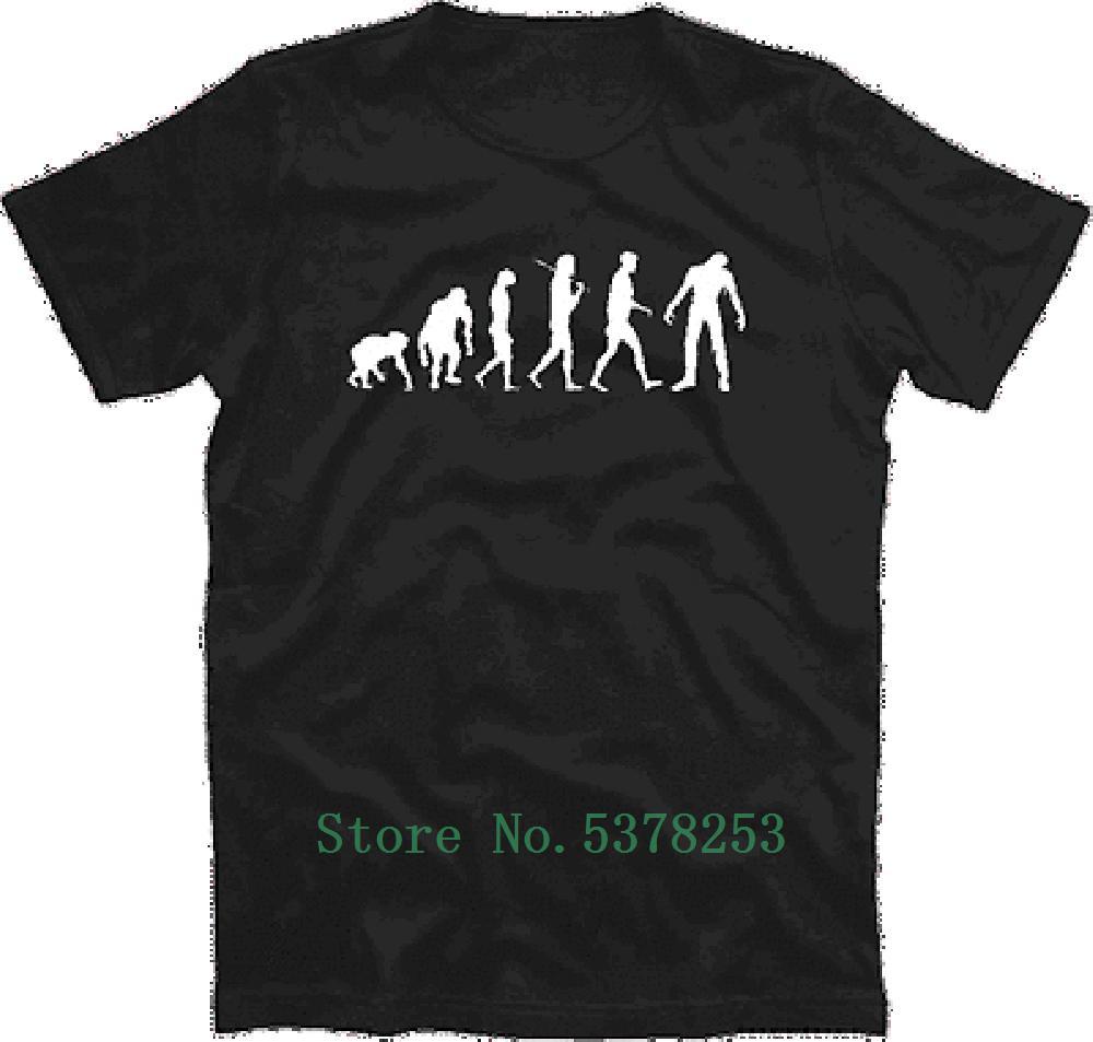 T Shirt Standard Edition Zombie Evolution Halloween Werewolf T-Shirt S-5xl T Shirt Digital Men T-Shirt Comic Short Sleeve Print