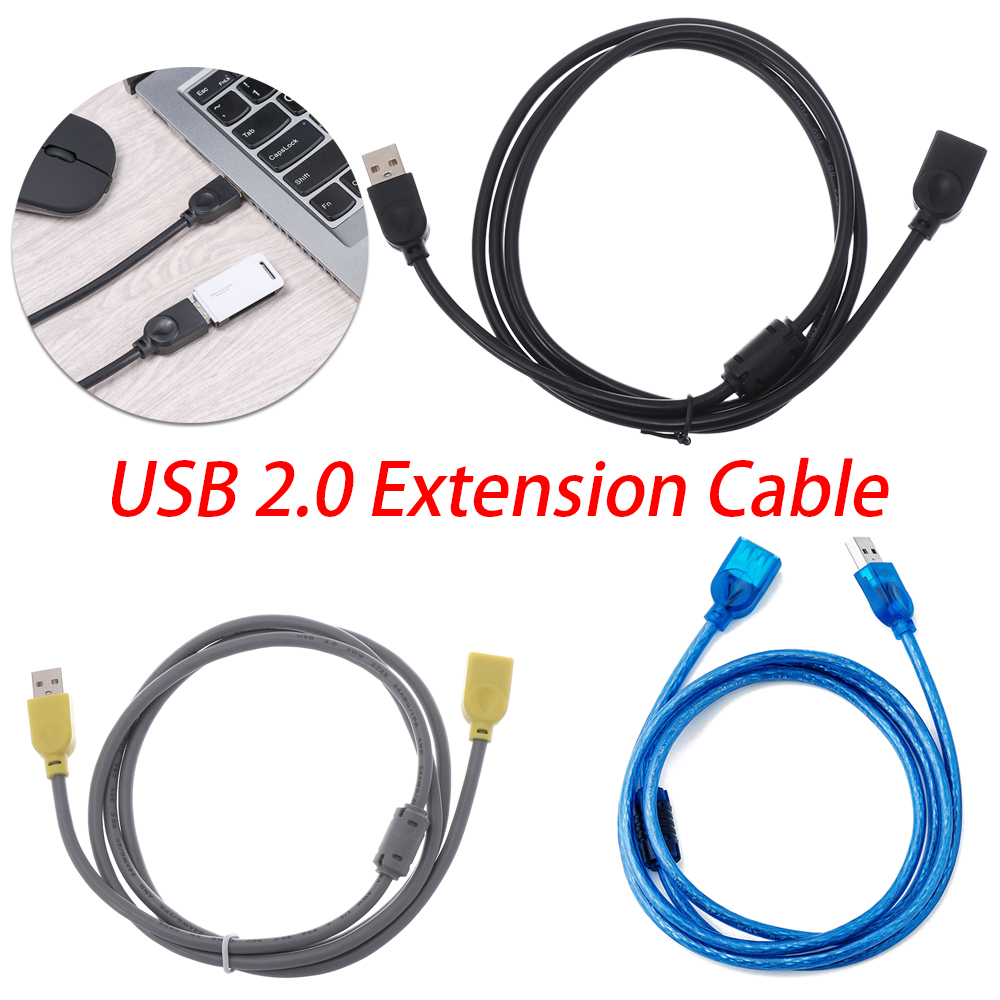 Cable Length: Other Computer Cables 20PCS//LOT USB 2.0 Male to Female Extension Extend Cable Cord New