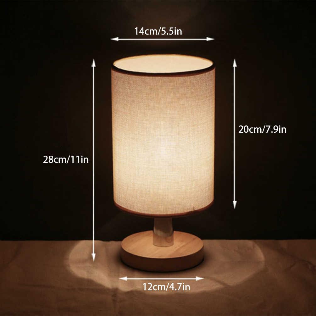 E27 Acessórios Decorativos Lâmpadas de Cabeceira Lâmpada De Mesa De Madeira Candeeiro de Mesa Simples para E27 Luzes Lâmpadas Titular Soquete Único Sombra de Tecido