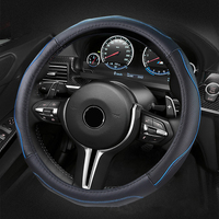 Genuine leather Steering Wheel Cover Universal 36/38cm Sport Design Steering Wheel Covers Case Auto Interior Fit For Most Car