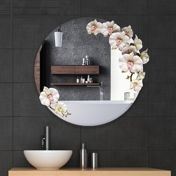 Modern Orchid decorated Mirror  1