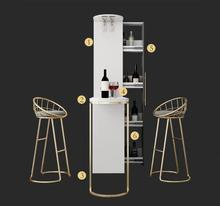 Revolving bar table household modern simple partition wine cabinet integrated small creative folding against the wall bar