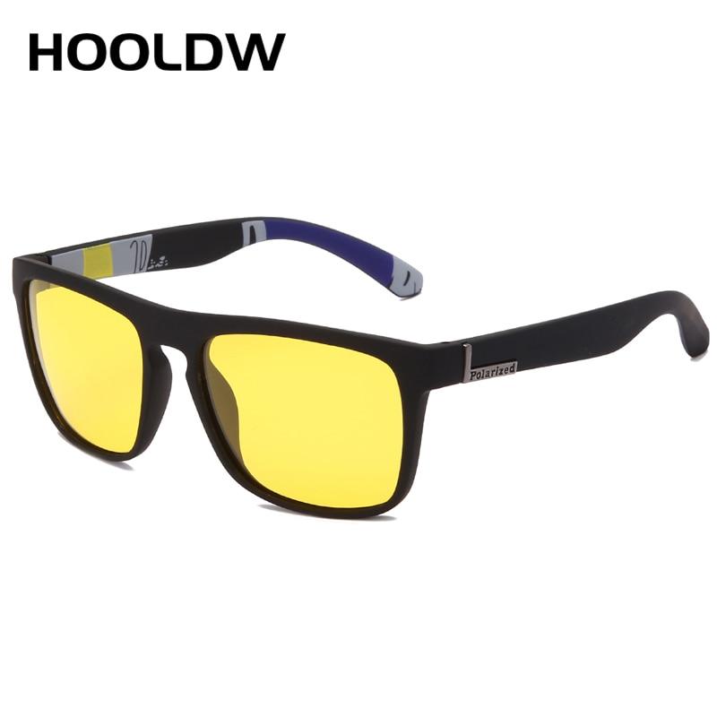 HOOLDW occhiali per la visione notturna uomo donna occhiali da sole polarizzati lenti gialle occhiali antiriflesso occhiali da sole per la guida notturna occhiali UV400 2