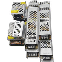 Transformador ultra fino da iluminação da fonte de alimentação do diodo emissor de luz dc 12v 24v 60w 120w 180 240w 360w AC190-240V motorista para tiras conduzidas