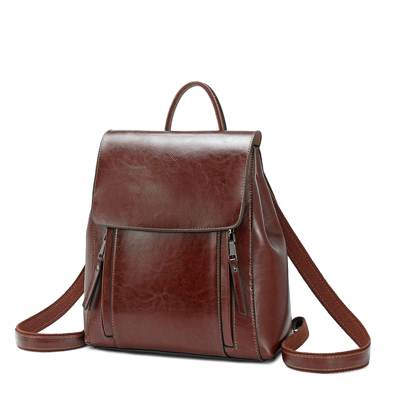 Shoulder, Quality, Leather, Women, Mochila, High