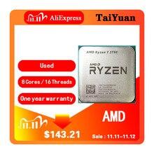 معالج وحدة معالجة مركزية AMD Ryzen 7 2700 R7 2700 3.2 GHz ثماني النواة بأسلاك 16M 65W مقبس وحدة معالجة مركزية ثنائي النواة AM4
