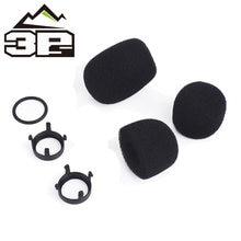 Accesorios tácticos para auriculares, esponjas para micrófono, piezas de repuesto para auriculares de la serie Comtac, conjunto de esponja de micrófono WZ160