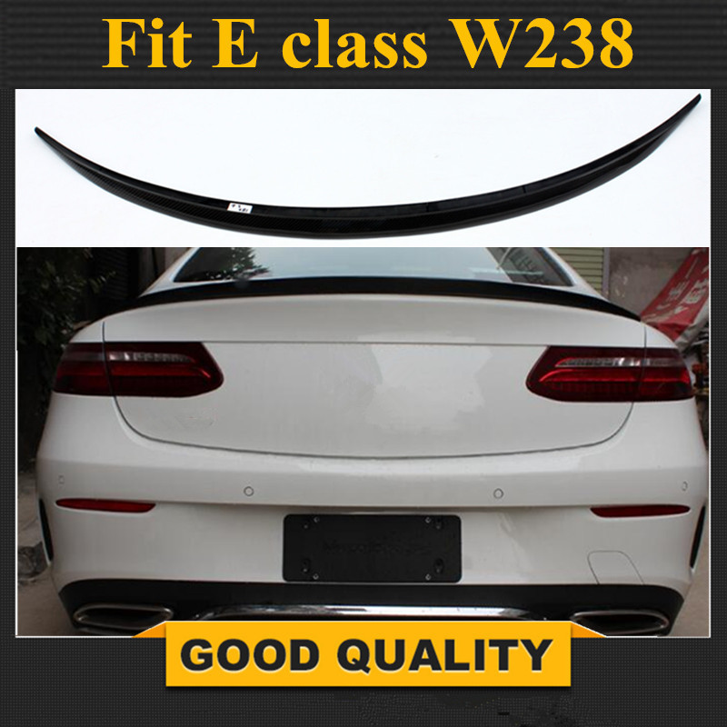 Mercedes W238 2-Door Coupe Carbon Fiber Lid <font><b>Spoiler</b></font> for Benz E Class <font><b>C238</b></font> Rear <font><b>Spoiler</b></font> Wing 2017 - present image