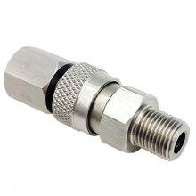 Paintball PCP wiatrówka karabin ze 8mm Quick Release odłącz łącznik zestaw 1/8 BSPP do napełniania powietrzem ładowania