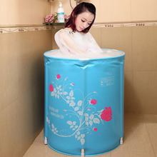2019 New Inflatable Bathtub Large Portable Plastic for Adult Folding
