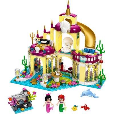 402pcs Princess Undersea Palace nano Building Blocks Mermaid Elsa  Dream Castle Bricks Gifts Toys Compatible Legoinglys Friends