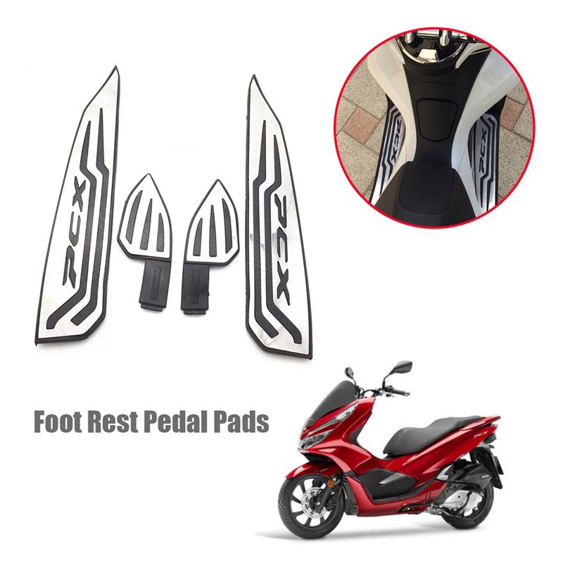 Foot Rest Pedal Pads Anti-Slip Accelerator Foot Mats Pads For Honda Pcx 125 150 18-19 Motorcycle Modified Aluminum Alloy Parts