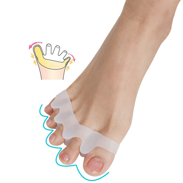 2Pcs/set Corrector Silicone Bunion Thumb Valgus Protector Preventing Blisters Nail Foot Care, Toe Separators 3