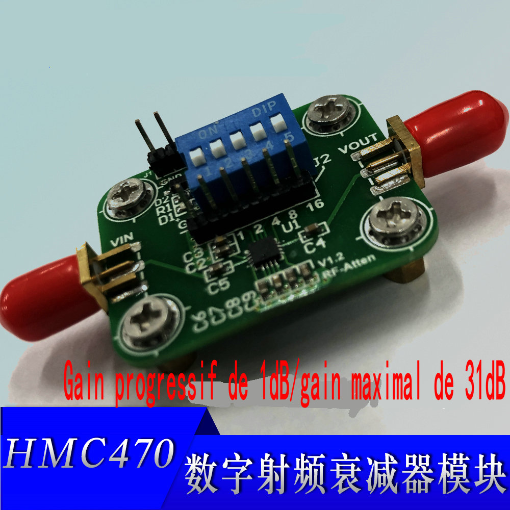 HMC470 Digital Radio Frequency Attenuator Module DC-3GHz 1dB Step To 31dB Manual And Programmable