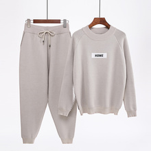 Mozuleva Sportswear Sweater-Sets Trousers Knitted Cashmere Winter Femme Long-Sleeved