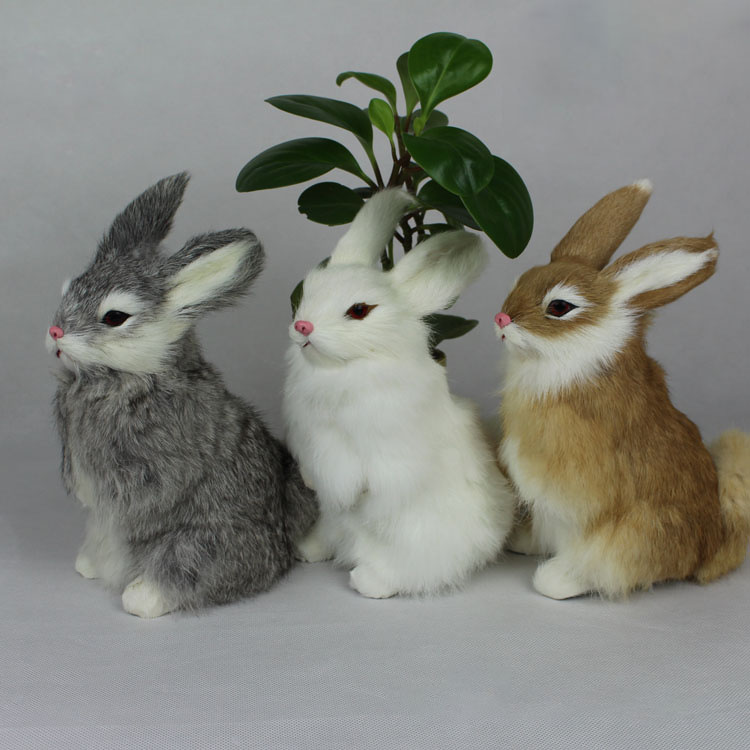 Stuffed Toys Lovely Simulation Lifelike Rabbit Animal Doll Plush Toy Kids Decorations Birthday Gift For Children