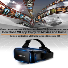 3D Очки виртуальной реальности Vr Ar гарнитура виртуальной реальности Умные очки шлем мобильный телефон с контроллером для смартфона очки бин...