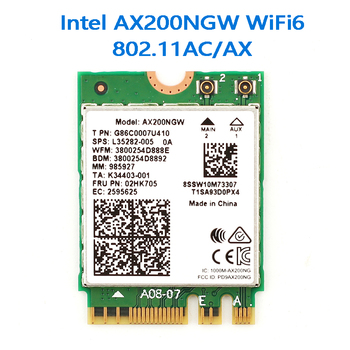 Wifi 6 Dual Band AX200 2400Mbps Wireless AX200NGW NGFF M.2 Bluetooth 5.0 Wifi Network Card 2.4G/5G 802.11ac/ax dual band 2400mbps wifi 6 ax200ngw pci e 1x wireless adapter 2 4g 5ghz 802 11ac ax bluetooth 5 0 for ax200 network card
