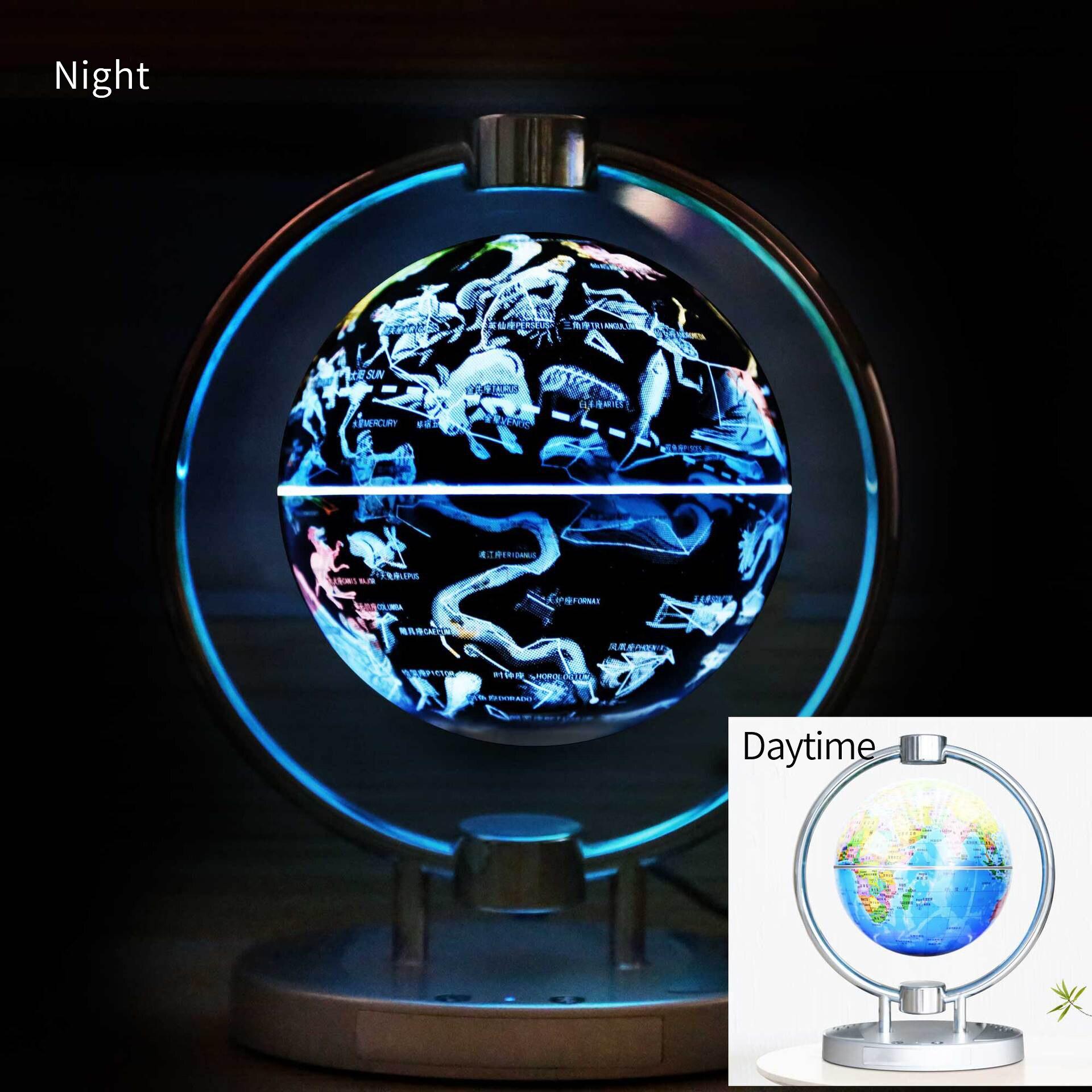 Магнитный левитационный Плавающий глобус, 6 антигравитационная карта мира Созвездие спиннинг шар с сенсорным управлением светодиодный светильник, креативный - 5