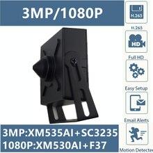 Telecamera Mini Box in metallo IP da 3mp 2mp con obiettivo da 3.7mm tutti i colori XM535AI SC3235 2304*1296 XM530 F37 1920*1080 Onvif CMS XMEYE