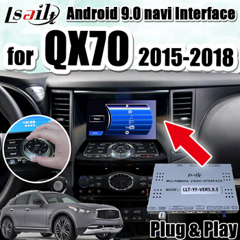 Android 9.0 GPS Navigation Box for 2015-2018 Infiniti QX70 integration video interface ,youtube google play waze etc. image