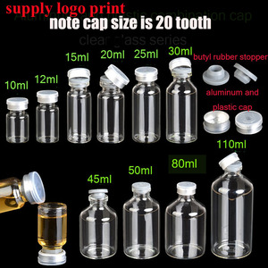 Image 1 - 50set/lot 10ml 12ml 15ml  25ml 30ml 40ml 50ml 20 tooth cap Injection vials small glass medicine bottles Experimental test bottle