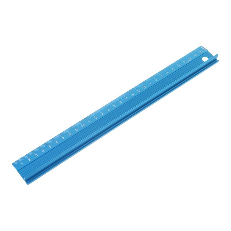 Professional Aluminum Alloy Straight Ruler Protective Scale Measuring Engineers Drawing Tool 3 Sizes L41E