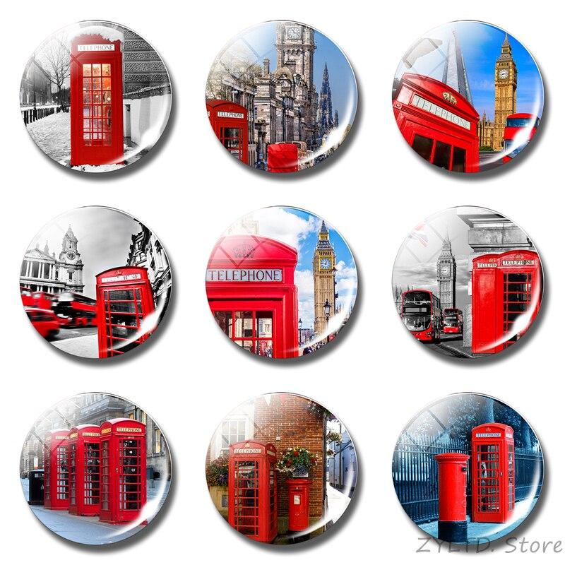 London Big Ben Fridge Magnet UK Phone Booth Attractions Glass Dome Fridge Magnet London Souvenir Fridge Magnet Home Decor