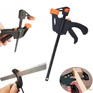 Adjustable Woodworking Bar Clamp Clip DIY Carpentry Hard Grip Gadget Vise Tool Carpentry Bar Clamp Tool(China)