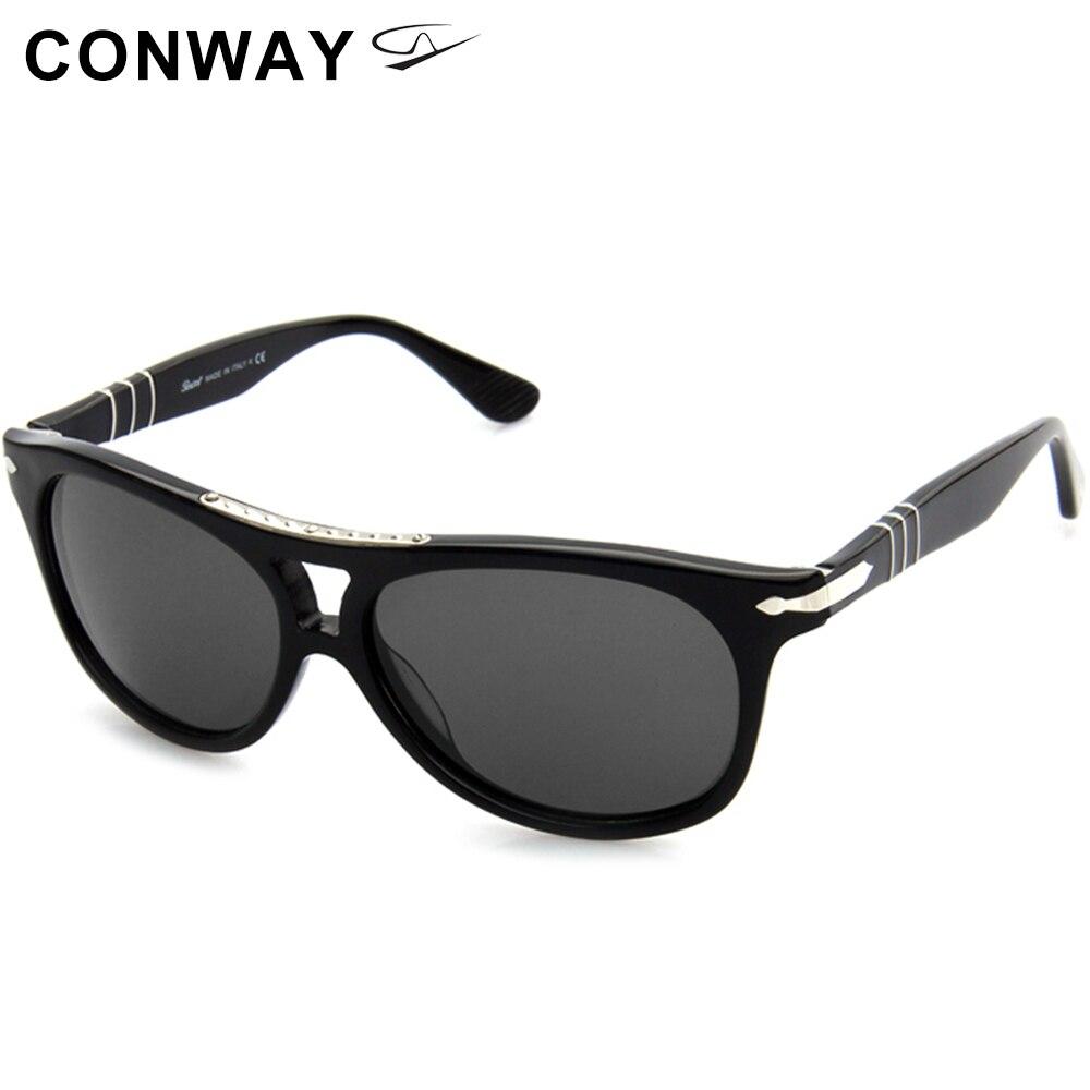Conway Oversized Sluneční brýle pro ženy Muži Pilotní styl Značka Design Sluneční brýle Steve Driving Brýle UV ochrana Acetate Frame