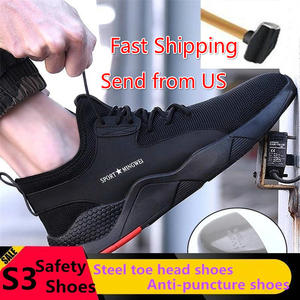 Boots Sneakers Industrial-Shoes Toe-Work Puncture-Proof Steel Outdoor Breathable Men's