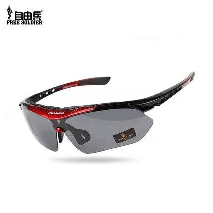 Открытый AutiUA спортивные очки для вождения поляризованные солнцезащитные очки военные тактические ездовые рыболовные очки оправа + 5 видов линз - 2