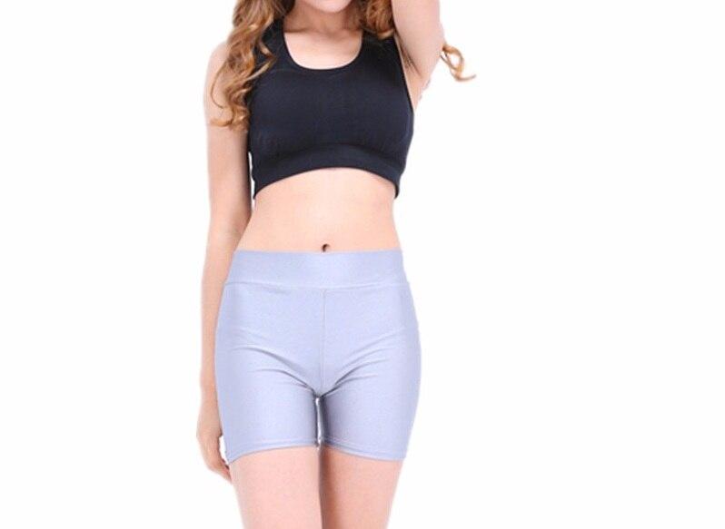 Plus Size Adult Short Dance Spandex Workout Shorts Rave Booty Shorts Mid Waist Women Dance Shorts
