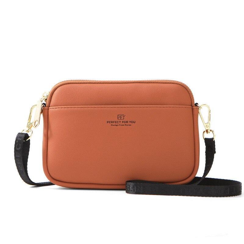 Women Leather Messenger Bags Women Handbag Solid Lady Shoulder Crossbody Bag Coin Purse Chest Bag Versatile Bag Bolsa Feminina
