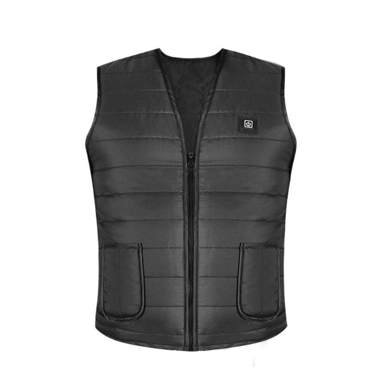 USB Heated Vest Thermal Waistcoat For Winter Outdoor Fishing Cycling Hiking Men Women Electric Heated Vest Heating Warmer Cloth