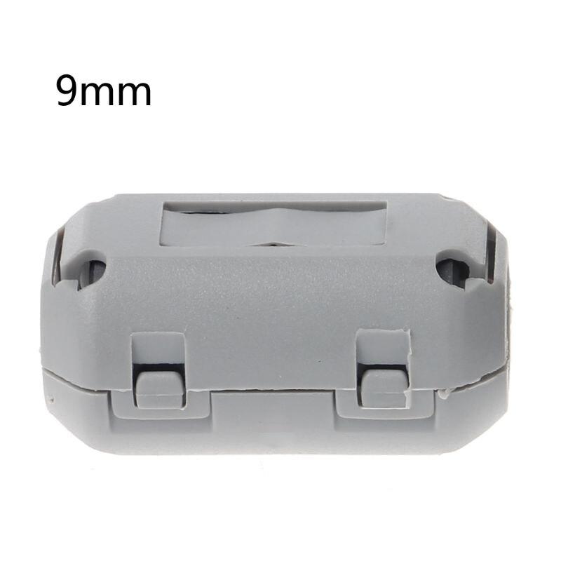Clip-on Ferrite Choke Ring Cord RFI EMI Noise Suppressor Filter Cable Clip