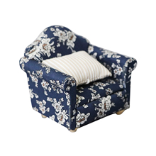 Toy Pillow Couch Funiture Doll-House Sofa Chair-Setting Play Living-Room Mini 1:12-Scale