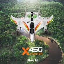 Wltoys xk x450 rc avião 2.4g controle remoto brushless dublê avião vertical decolagem e pouso planador remoto rc avião brinquedos