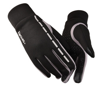 2020 Fashion Men Winter Windproof Warm Riding Driving Sports Gloves Anti-Slip Cycling Mittens Cheap image