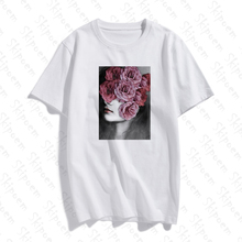 Flower Girl Women Tshirt Vintage Punk Aesthetic Kawaii Korea