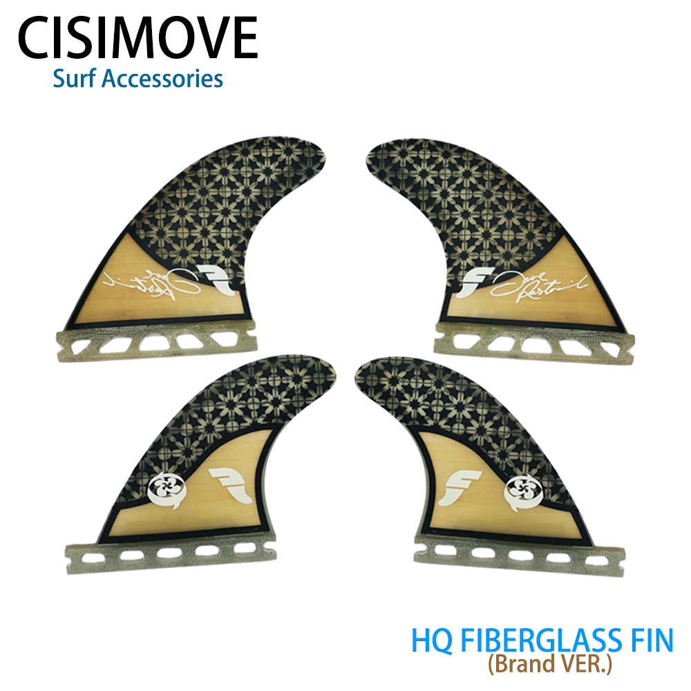 CISIMOVE Future Type Graphic Fiberglass Quad Fins