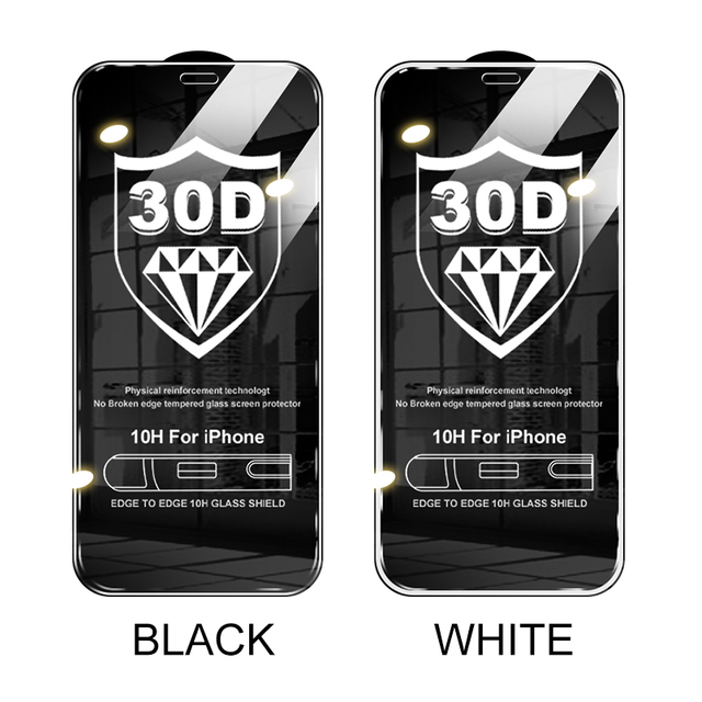 NEW 30D Full Cover Protective Glass For iPhone 12 11 Pro XS Max XR X Screen Protector On iPhone 11 12 Mini Tempered Glass film 6