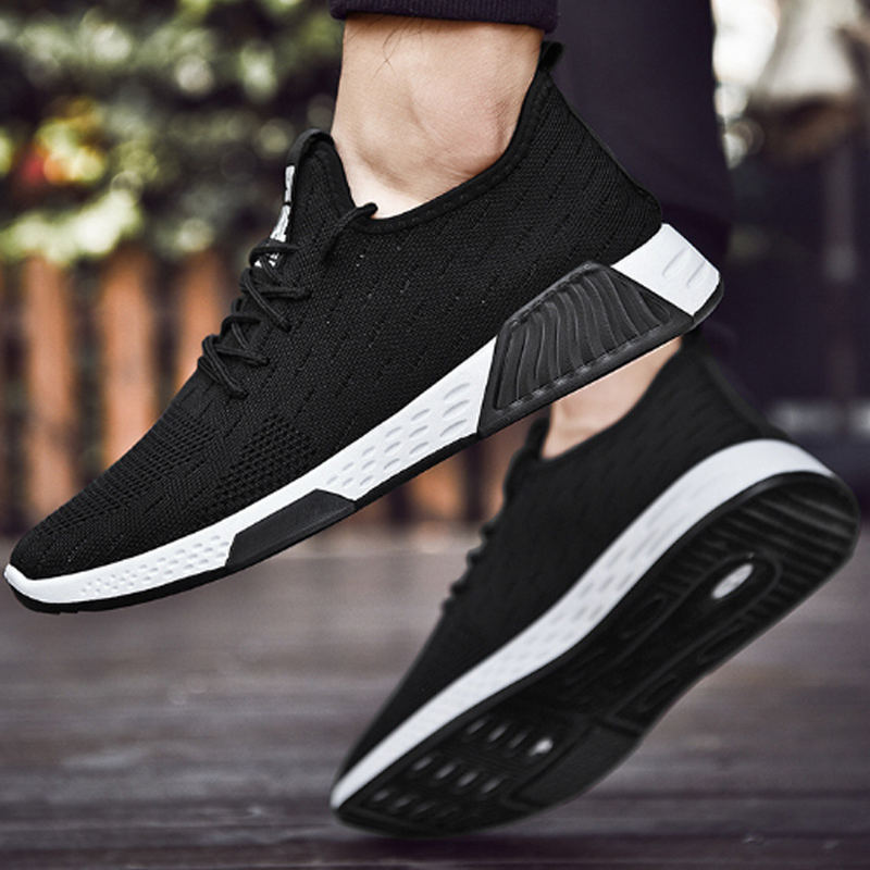 Promo New Men Breathable Sneakers No-slip Men Vulcanize Shoes 2020 Male Air Mesh Lace Up Wear-resistant Casual Shoes Tenis Masculino