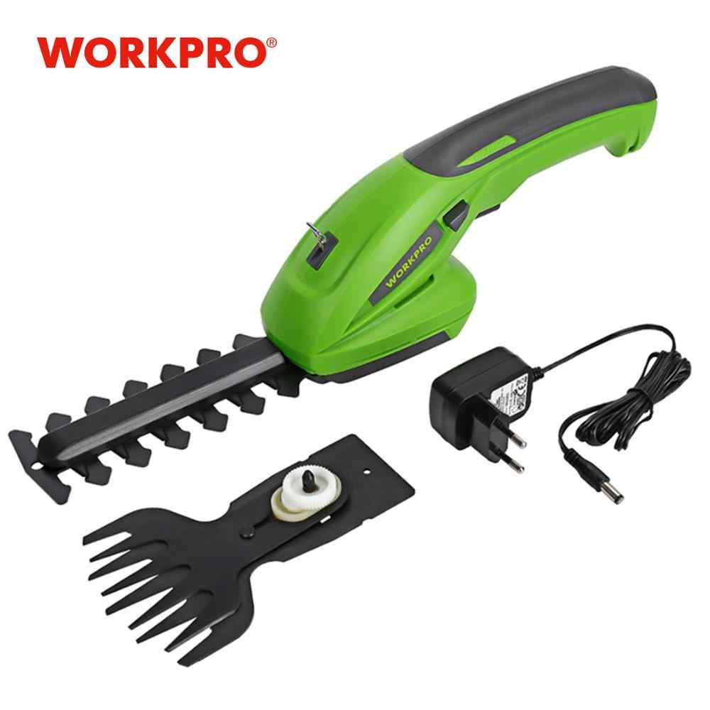 Workpro 7.2V Listrik Trimmer 2 In 1 Lithium-Ion Cordless Alat Taman Hedge Trimmer Isi Ulang Hedge Trimmers untuk rumput