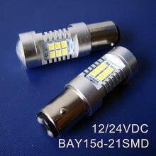 Alta qualidade, 10W 24V BAY15d lâmpada led, P21/5W Luzes, a Carga Do Carro, caminhão, Auto Semáforo Led, 1157 luz De Freio, frete grátis 100 pc/lote