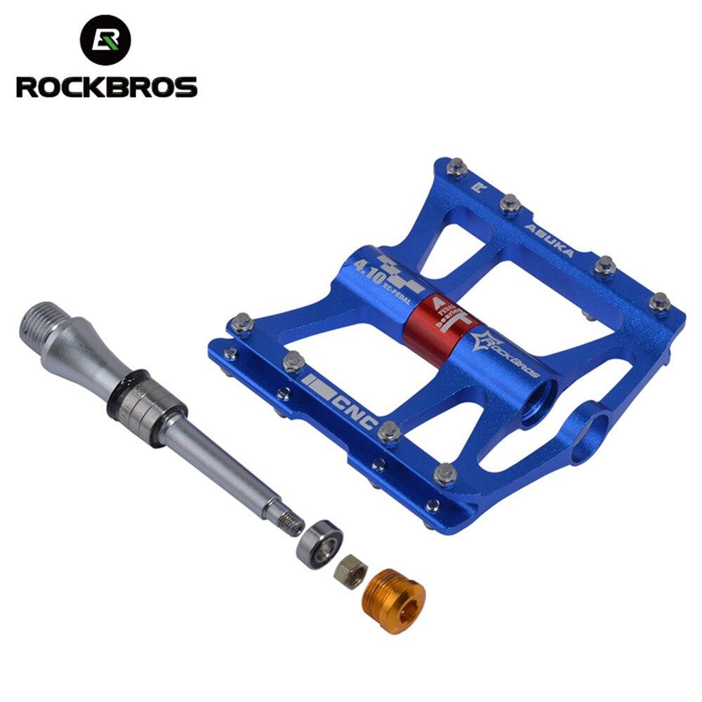 ROCKBROS 4 подшипника педали для горного велосипеда велосипедные противоскользящие MTB педали сверхлегкие герметичные подшипники велосипедные ...